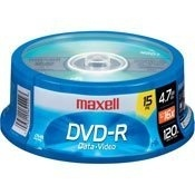 Maxell Torre de Discos Virgenes, DVD-R, 16x, 4.7GB, 15 Piezas