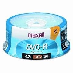 Maxell Torre de Discos Virgenes, DVD-R, 16x, 4.7GB, 25 Piezas