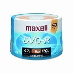 Maxell Torre de Discos Virgenes para DVD, DVD-R, 16x, 4.7GB, 50 Piezas
