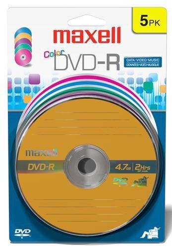 Maxell Disco Vírgen para DVD, DVD-R, 16x, 4.7GB, 5 Piezas