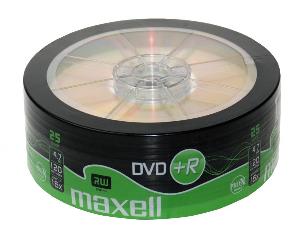 Maxell Torre de Discos Virgenes, DVD+R, 16x, 4.7GB, 25 Piezas