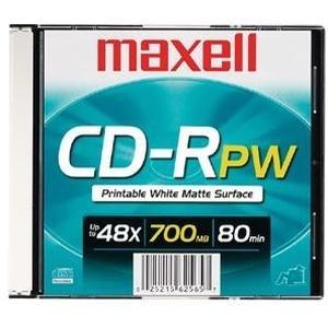 Maxell Disco Virgen para CD, CD-R, 48x, 1 Disco (648721)