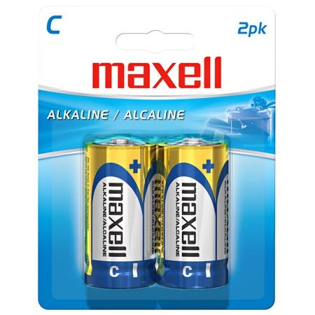 Maxell Pila Desechable C, 1.5V, 2 Piezas
