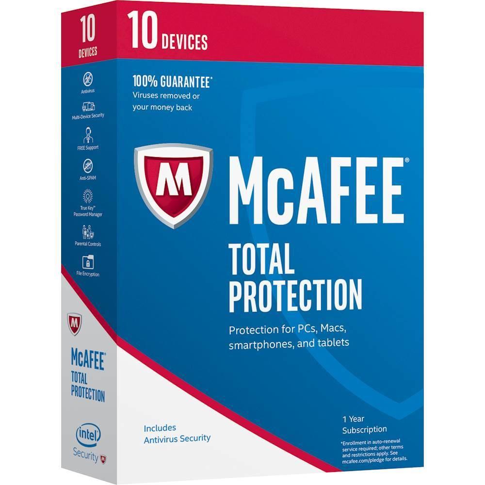 McAfee Total Protection 2017, 10 Usuarios, 1 Año, Windows/Mac/Android/iOS