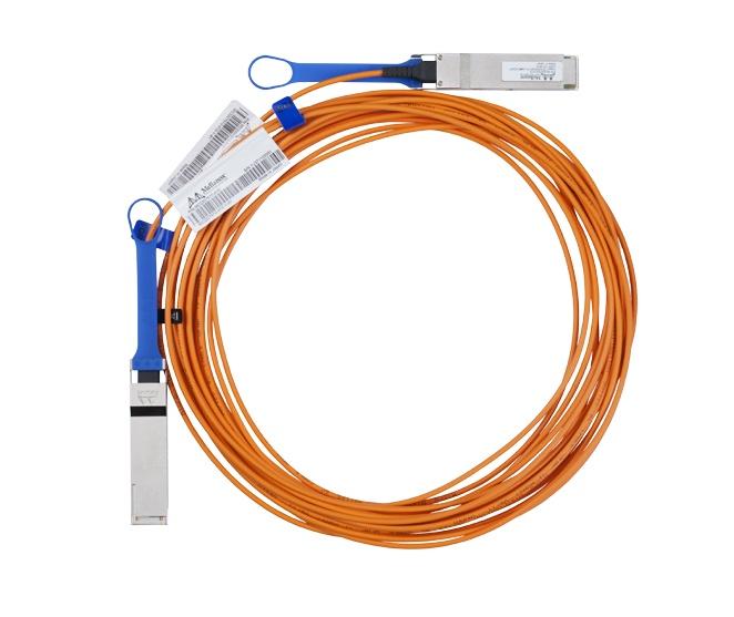 Mellanox Cable QSFP Macho - QSFP Macho, 20 Metros, Naranja
