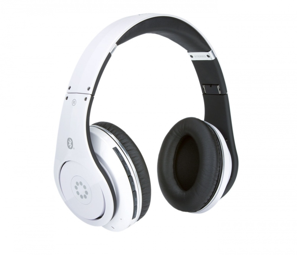 Memorex Audífonos MHBT0545WM, Bluetooth, Alámbrico/Inalámbrico, Negro/Blanco