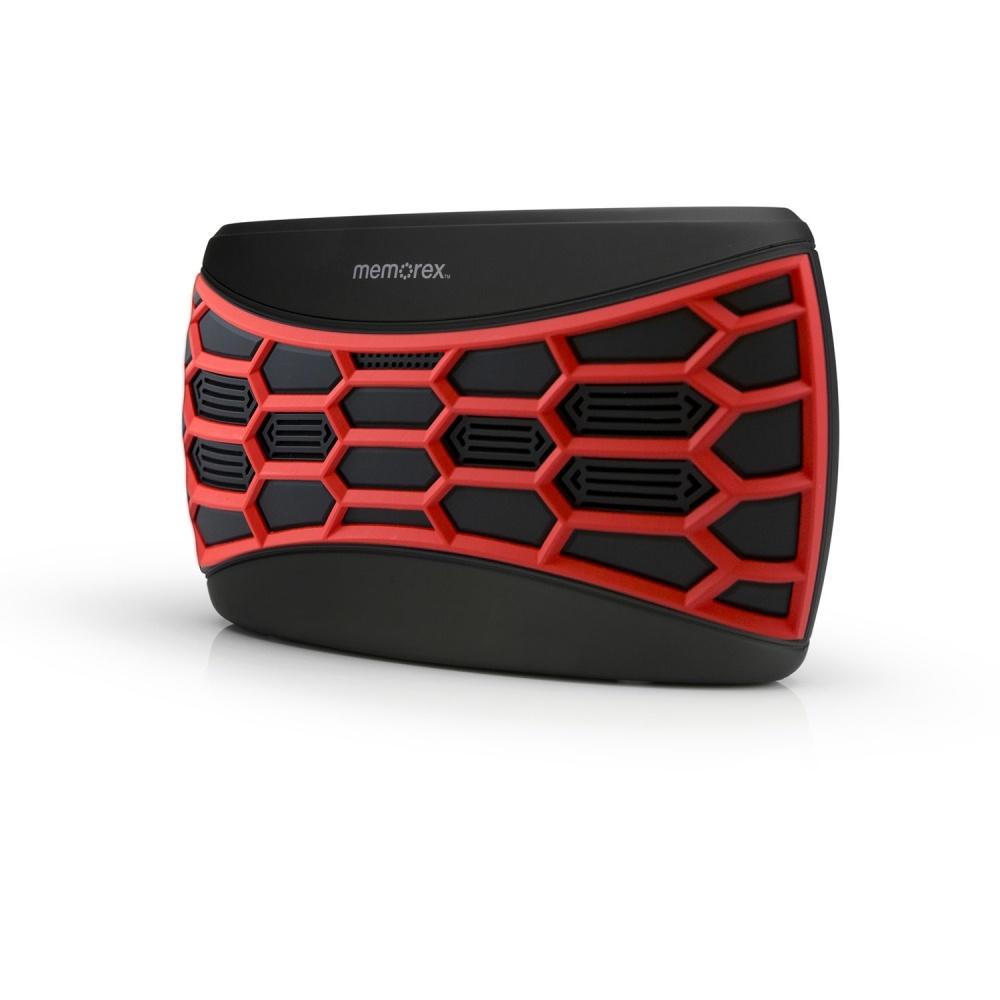 Memorex Bocina Portátil MW346RD, Bluetooth, Inalámbrico, 2.0, USB, Negro/Rojo