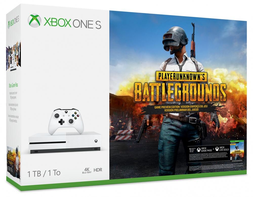 Microsoft Xbox One S PUBG, 1TB, WiFi, 2x HDMI, 3x USB, Blanco
