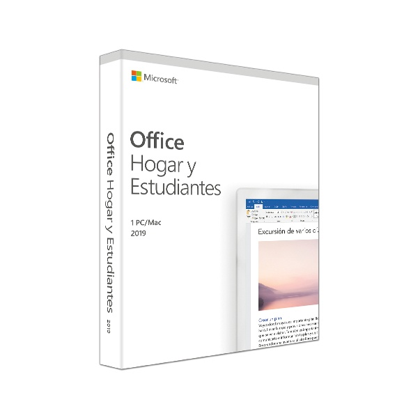 Microsoft Office Hogar y Estudiantes 2019, 1 PC, Español, Windows/Mac