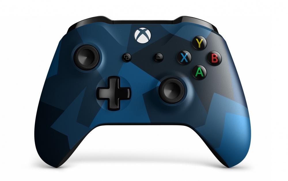 Microsoft Control para Xbox One, Inalámbrico, Bluetooth, Negro/Azul