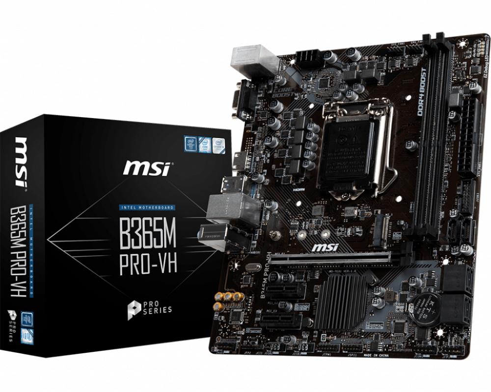 Tarjeta Madre MSI B365M PRO-VH, S-1151, Intel B365, HDMI, 32GB DDR4 para Intel
