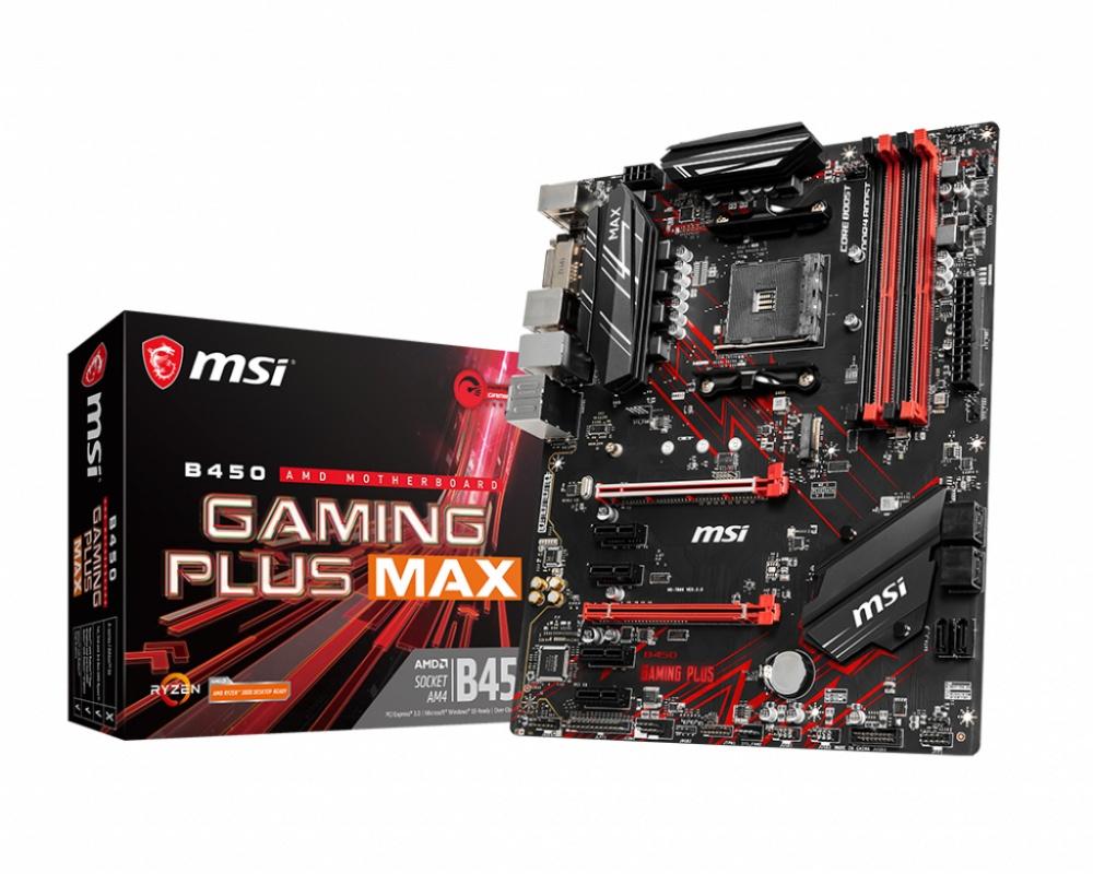 Tarjeta Madre MSI ATX B450 GAMING PLUS MAX, AMD B450, HDMI, 64GB DDR4 para AMD  ― Requiere Actualización de BIOS para Ryzen Serie 5000