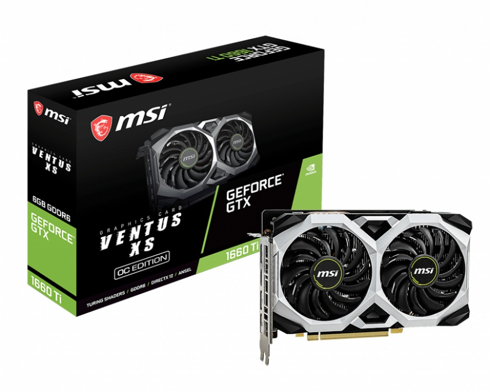 Tarjeta de Video MSI NVIDIA GeForce GTX 1660 Ti Ventus XS OC, 6GB 192-bit GDDR6, PCI Express x16 3.0
