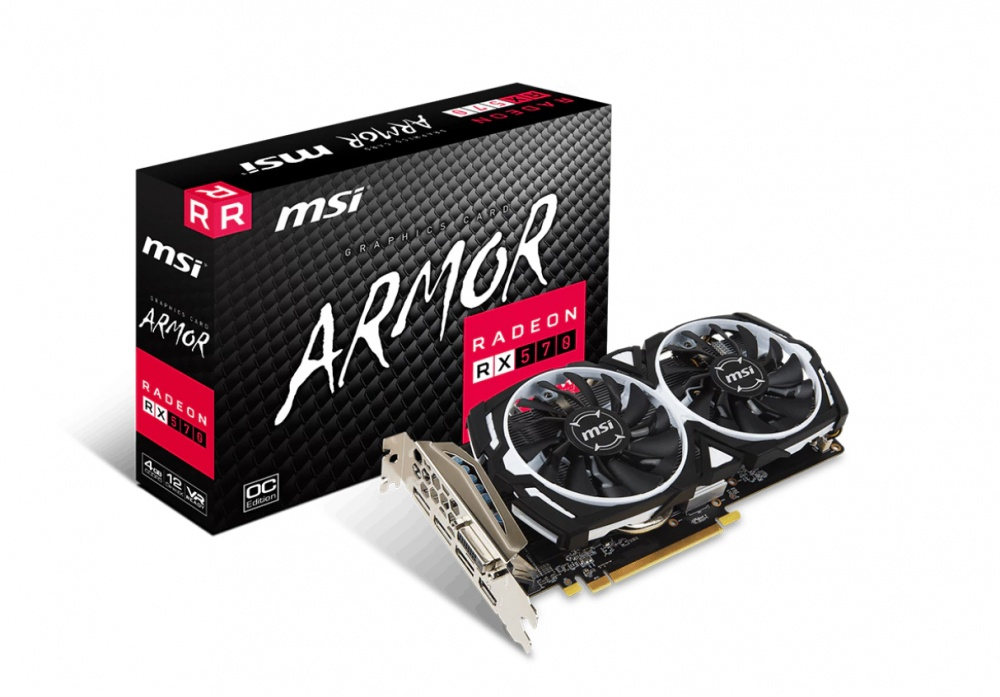 Tarjeta de Video MSI AMD Radeon RX 570 ARMOR, 4GB 256-bit GDDR5, PCI Express x16 - ¡Gratis 3 meses Xbox Game Pass PC! (1 código por cliente)