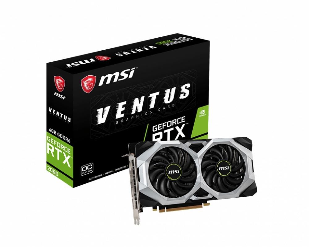 Tarjeta de Video MSI NVIDIA GeForce RTX 2060 VENTUS OC, 6GB 192-bit GDDR6, PCI Express x16 3.0 - ¡Compra y recibe un juego GRATIS! (a elegir entre Metro Exodus o Battlefield V o Anthem)