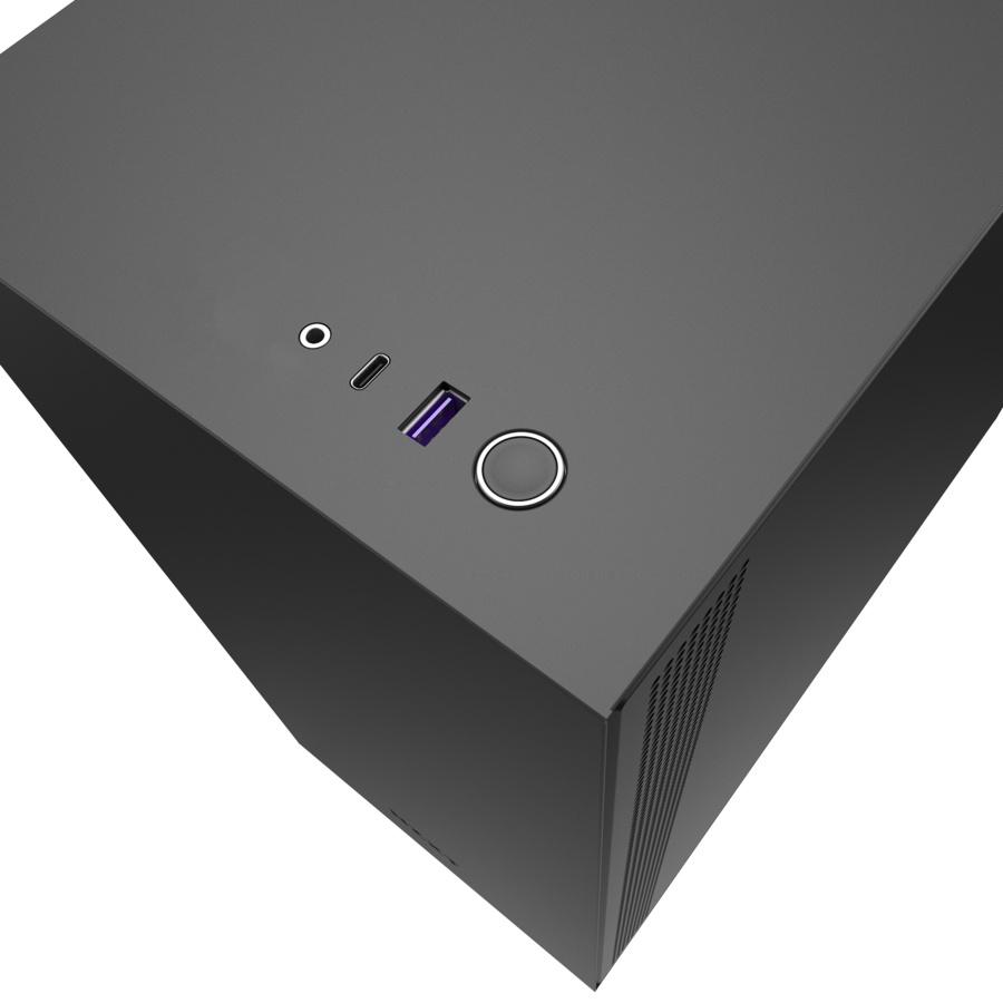 Gabinete NZXT H510 con Ventana, Midi-Tower, ATX,Micro-ATX,Mini-ATX, USB 3.1, sin Fuente, Negro/Rojo