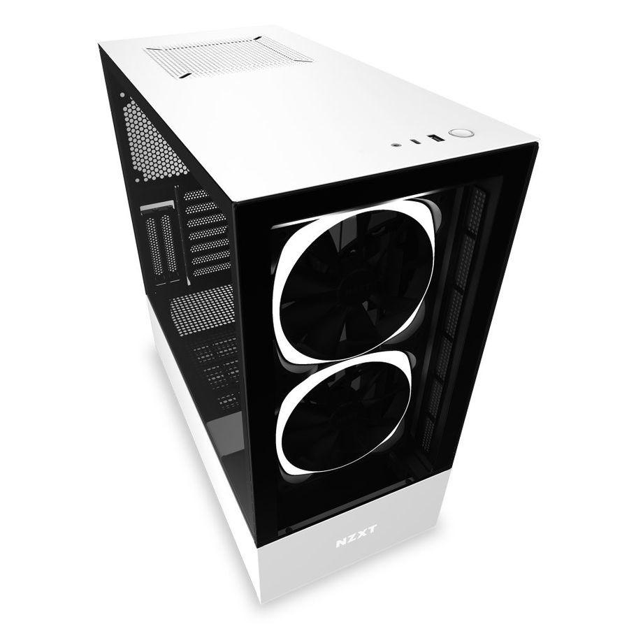 Gabinete NZXT H510 Elite con Ventana RGB, Midi-Tower, ATX/EATX/Micro ATX/Mini-ATX, USB 3.0, sin Fuente, Blanco