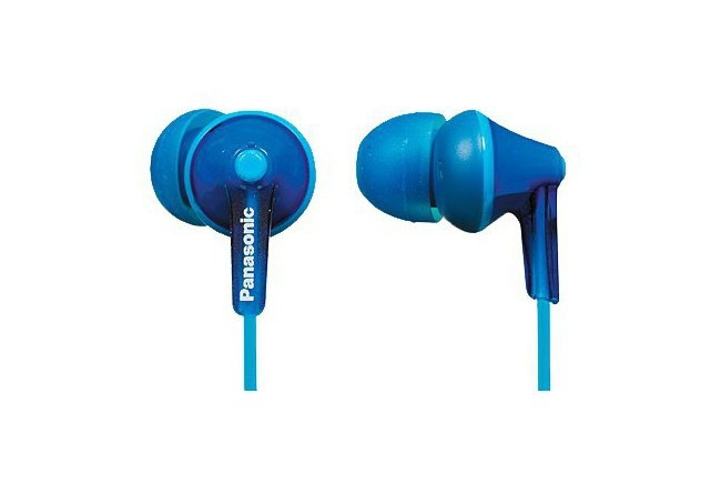 Panasonic Audífonos Intrauriculares RP-HJE125PPA, Alámbrico, 1.1 Metros, 3.5mm, Azul