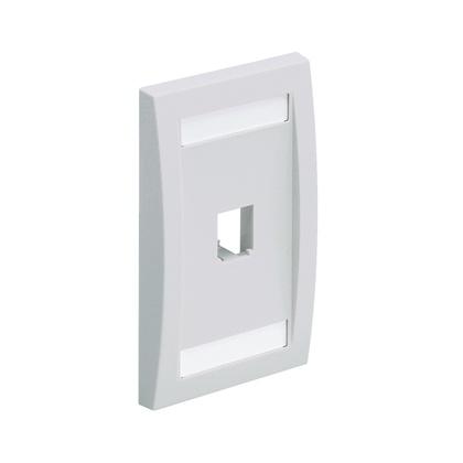 Panduit Faceplate Ejecutiva para Módulo Mini-Com, 1 Puerto, Blanco
