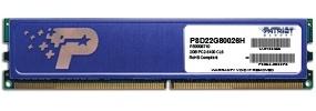 Memoria RAM Patriot DDR2, 800MHz, 2GB, Non-ECC, CL6