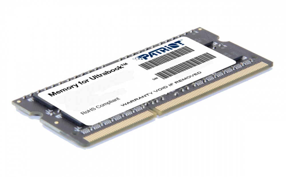 Memoria RAM Patriot DDR3, 1600MHz, 4GB, Non-ECC, CL11, SO-DIMM