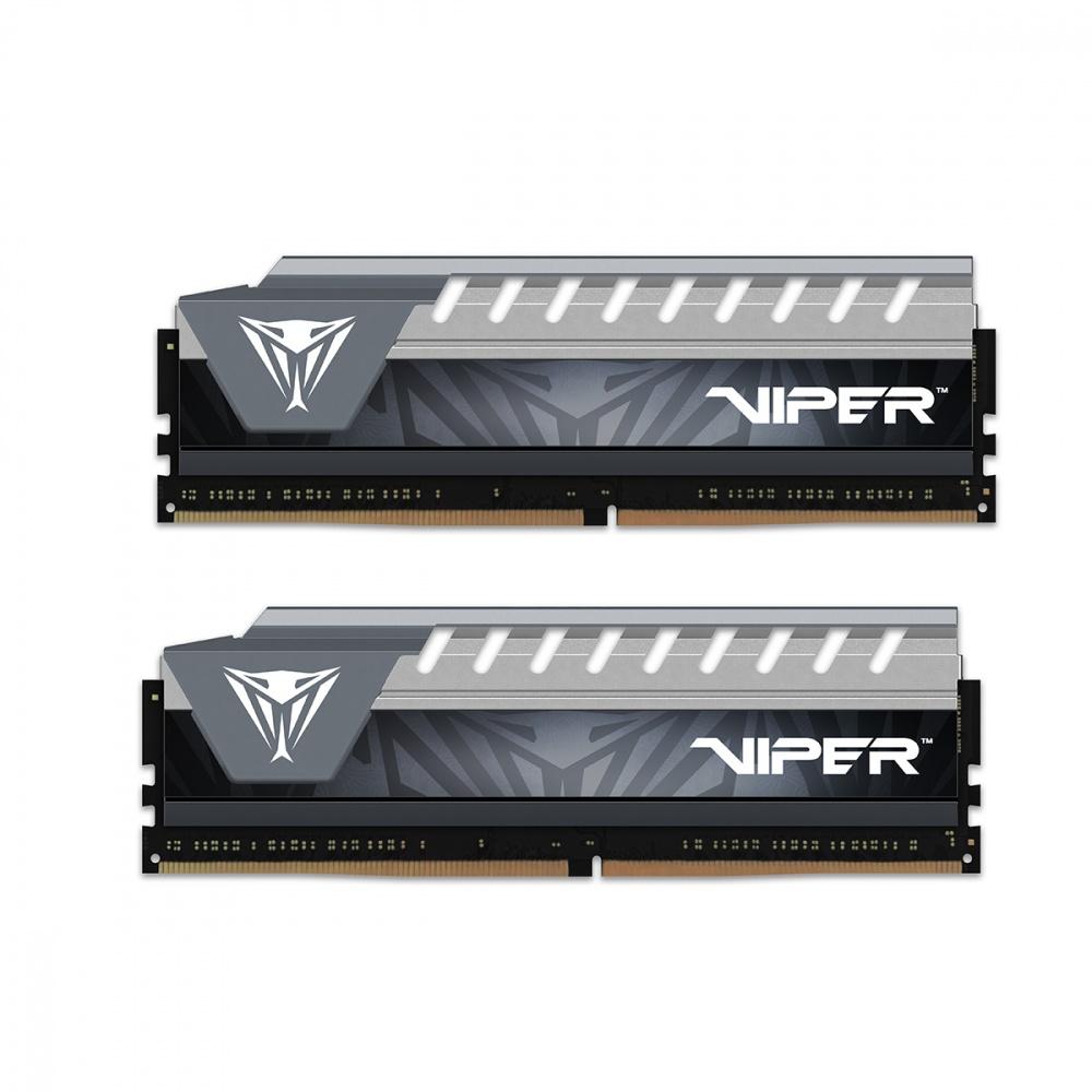 Memoria RAM Patriot Viper Elite Series Gray DDR4, 2666MHz, 8GB (2 x 4GB), Non-ECC, CL16, XMP