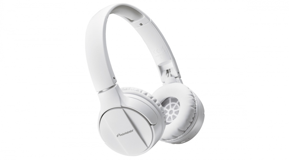 Pioneer Audífonos SE-MJ553BT, Bluetooth, Inalámbrico, Blanco