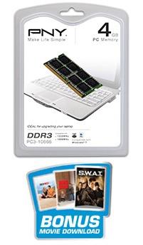 Memoria RAM PNY DDR3, 1333MHz, 4GB, CL9, ECC, SO-DIMM