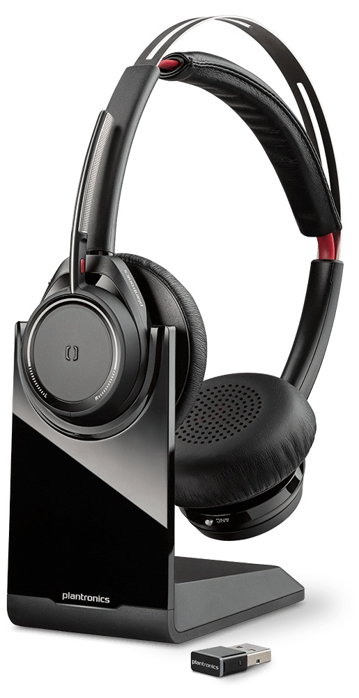 Poly Voyager Focus UC B825-M, Inalámbrico, Bluetooth, USB, Negro