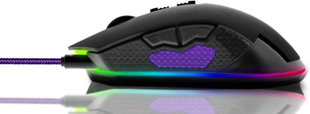 Mouse Gamer Primus Óptico Gladius 10000S RGB, Alámbrico, USB, 10.000DPI, Negro