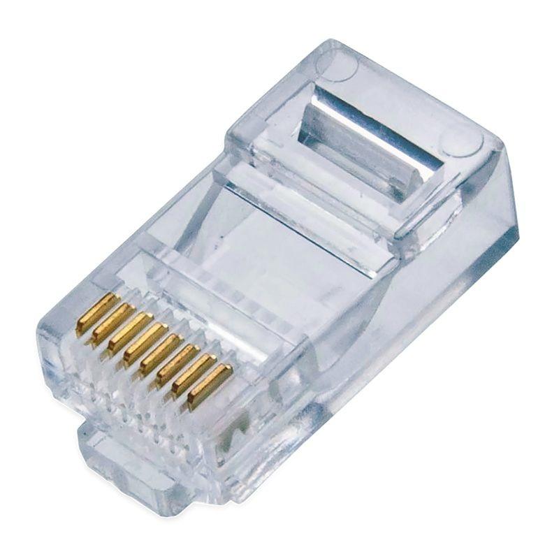 Qian Conector RJ-45 FTP, Transparente, 100 Piezas