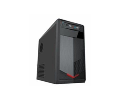 Gabinete Quaroni 92001PA, Midi-Tower, Micro-ATX/Mini-ITX, USB 2.0, con Fuente 400W, Negro/Rojo