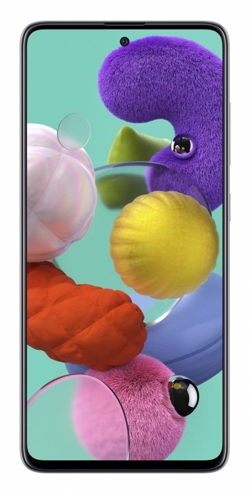 "Smartphone Samsung Galaxy A51 6.5"", 1080 x 2400 Pixeles, 128GB, 4GB RAM, 4G, Android 10, Blanco"