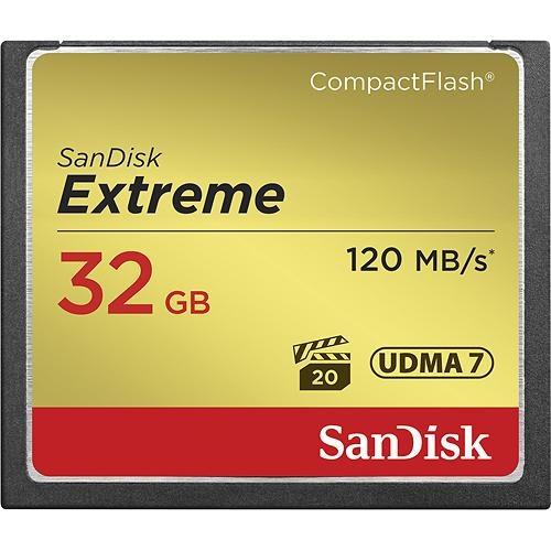 Memoria Flash SanDisk Extreme, 32GB CompactFlash