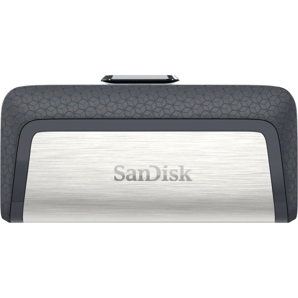 Memoria USB Sandisk Ultra Dual Drive, 64GB, USB C 3.0, Plata