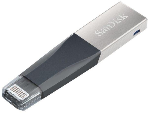 Memoria USB SanDisk IXpand Mini, 32GB, USB 3.0/Lightning, Gris/Plata