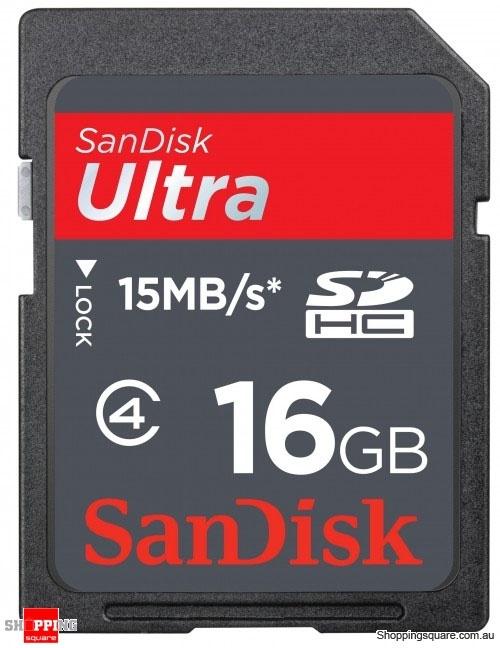 Memoria Flash SanDisk Ultra, 16GB SDHC