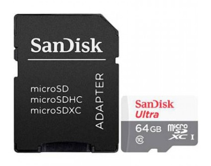 Memoria Flash SanDisk Ultra, 64GB MicroSDXC UHS-I Clase 10, con Adaptador
