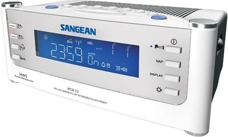 Sangean Radio Reloj RCR-22, AM/FM, Plata