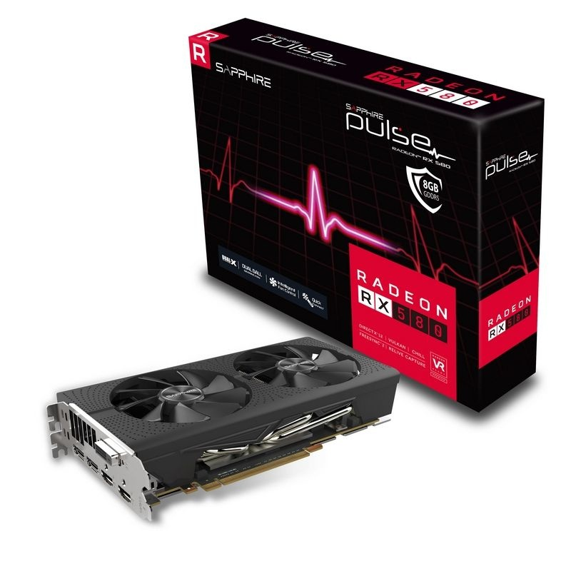 Tarjeta de Video Sapphire AMD Radeon RX 580 PULSE, 8GB 256-bit GDDR5, PCI Express x16 2.0 - ¡Gratis 3 meses Xbox Game Pass PC! (1 código por cliente)