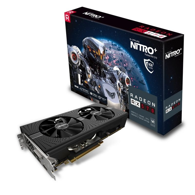 Tarjeta de Video Sapphire AMD Radeon RX 570 Nitro+, 8GB 256-bit GDRR5, PCI Express x16 2.0 - ¡Gratis 3 meses de Xbox Game Pass para PC! (un código por cliente) - ¡Compra y elige entre Borderlands 3 o Tom Clancys Ghost Recon Breakpoint!