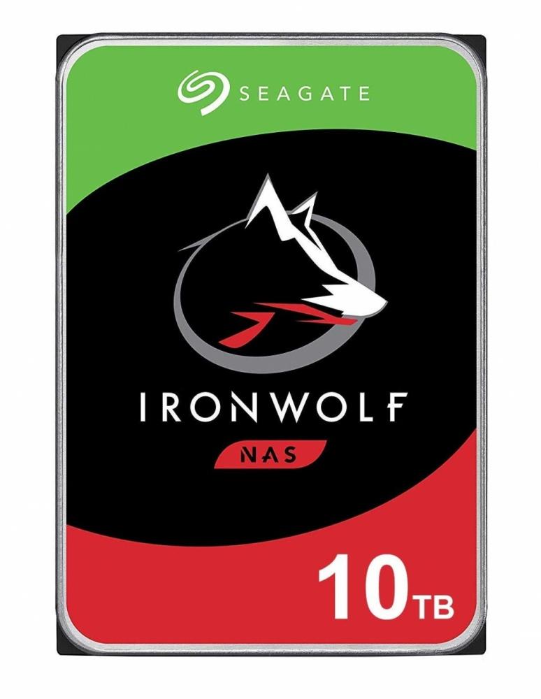 """Disco Duro PARA NAS Seagate IronWolf 3.5"""", 10TB, SATA III, 6Gbit/s, 7200RPM, 256MB Caché - para NAS de 1 a 8 Bahías"""