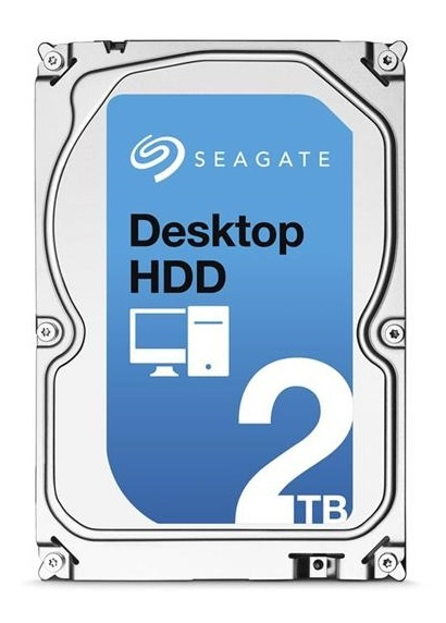 Disco Duro Interno Seagate Desktop HDD 3.5'', 2TB, SATA III, 6 Gbit/s, 7200RPM, 64MB Cache - Unidad Solamente