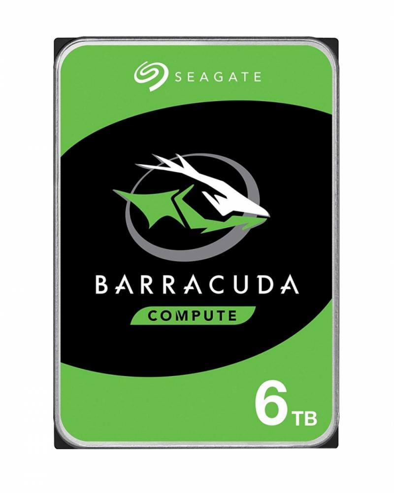 Disco Duro Interno Seagate Barracuda 3.5'', 6TB, SATA III, 5400RPM, 256MB Caché
