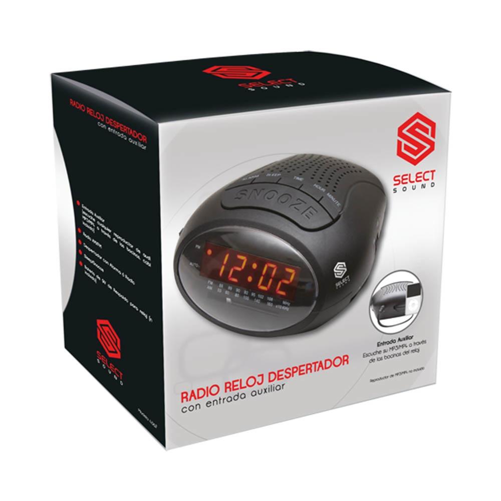 Select Sound Radio Despertador 4382 AM/FM, Negro