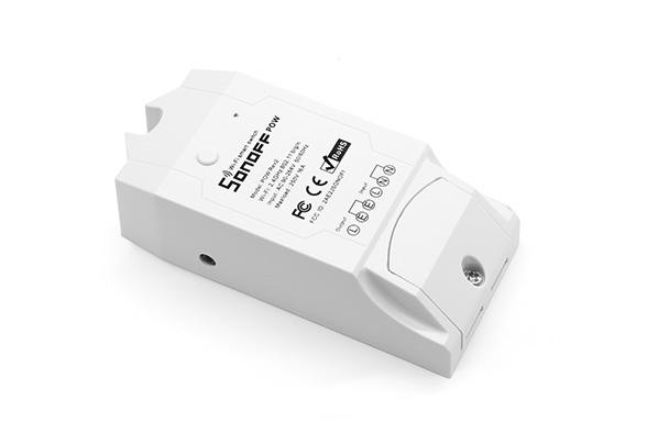 Sonoff Atenuador de Luz Inteligente Pow R2, WiFi, Blanco