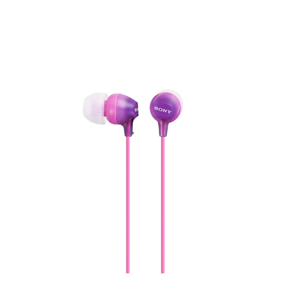 Sony Audífonos MDR-EX15LP, Alámbrico, 1.2 Metros, Violeta