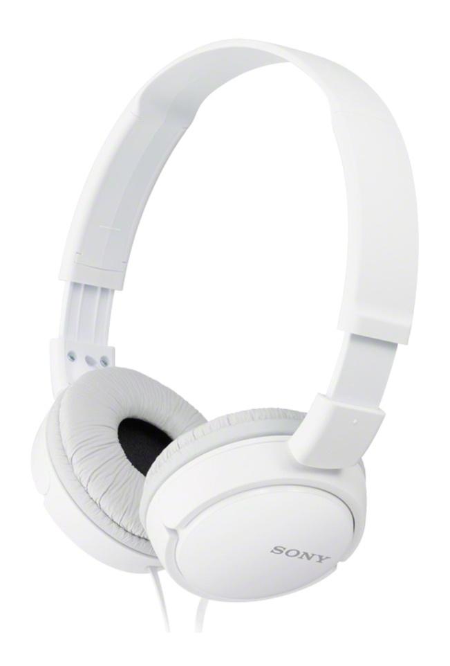 Sony Audífonos Plegable ZX110, Alámbrico, 1.2 Metros, Blanco