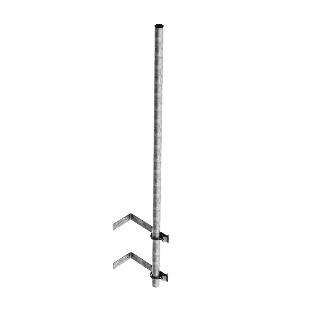 Mástil de 3 m de 1 1/4'' diámetro ced. 30 con Herrajes para Sujeción a Pared.