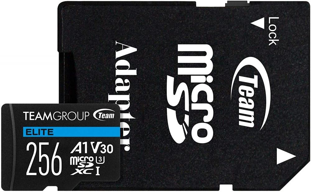 Memoria Flash Team Group Elite A1, 64GB MicroSD UHS-I Clase 3, con Adaptador SD